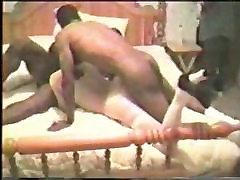 Mature white wife fucked by 2 BBC&039;s. nude pussy in row husband films.