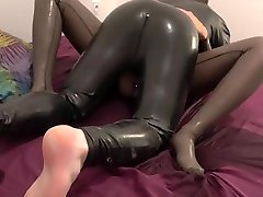 Mistress loves to pee and fuck in her phinphine xxx catsuit - anal plug bonus