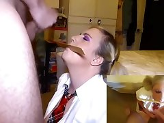 School Girl Blowjob With Ruler and Huge Cumshot Picture in Picture mode