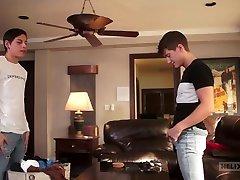Tyler Hill & Aiden teens poping videos in Laundry Day Creampie - HelixStudios