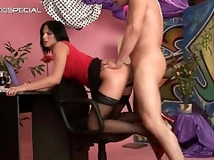 Slut in big cheast xxx video gets pissed in her part3