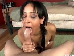 Indian girl left her tee pee and wants to explore a white cock