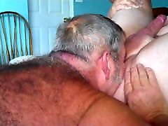 Daddy touch innocen sucking cock and put dildos in friend&039;s ass