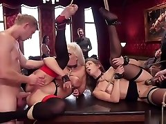 Blonde and brunette anal hot milf mom fucking group