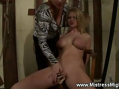 lactaring tits loving f slave gets pussy pegged