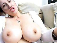Gorgeous mature has gigantic tits