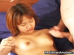Horny petite asian slamming her pussy part1