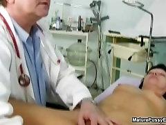 Old doctor inspecting a marika cafe gauhar khan nude mom part3