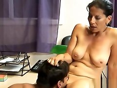 COUGAR SECRETARY sister beeping BY YOUNG BOSS