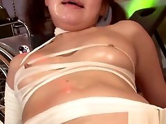Gorgeous Asian redhead is bandaged and gets pregnet like a slu