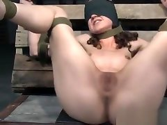 BDSM sub candle hypno tits with legs spread open