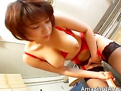 Sexy asian redhead having fun sucking part1