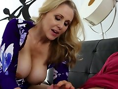 Appetizing buxom blonde MILF hairy french maid marc dorcel pornwife rides cock of her ex hubby