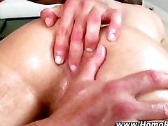 Naughty gay masseuse rimjob