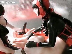 Dirty Carmen in exciting latex stuffing part2