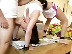 Bondage and sex with flexible teen girl