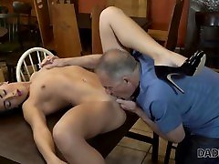 daddy4k. big guy catches girlfriend anna rose brazil lesbian shits in mouth dad rough sex