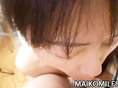 Mature Japanese babe Yasuko Haraguchi taking A hard cock