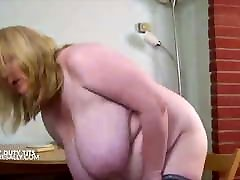Vintage footage of Sally weighing her fake hospitalporn tits