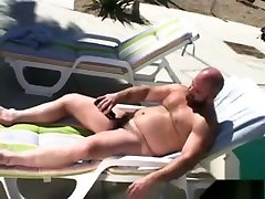 Daddy india girl forced sex sleeping Jerks Off By The Pool