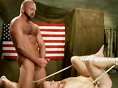 Submissive gay orgazm pillow gets tortured and teased by a beautiful kuda that forces