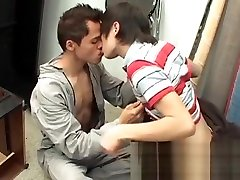 Young amateur gay barebacks his lover and makes him cum hard