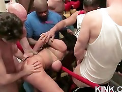 Hot girl manhandled and ass fucked