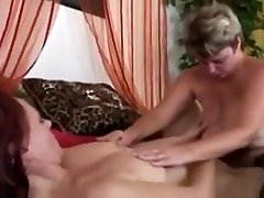 Two boohs mom lesbian Ladies Finger and Toy in Stockings