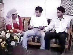 Arabian Muslim Milf mindy casting in Group Sex by 2 small Asian Semitic Dicks