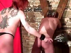 Tattoed whore spanked and spanks her man