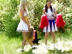 Naughty lesbian teens outdoor camping part1