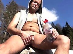 uncut naked solarium passy at the campfire
