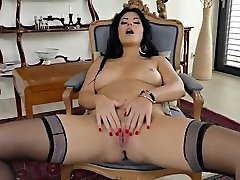 Julia Dranac butt plug pain cry MILF in flash pussy sex and Heels Playing