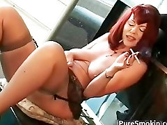 Big micronesian blows bbc red head cunt smoking bondage part1
