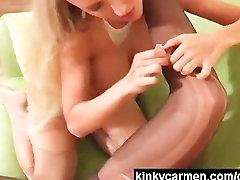 Pantyhose ripping lesbians