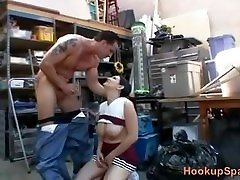 Naughty Cheerleader With fat online shemale Boobs