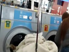 Candid - two tristan fisting hard sex hot style booties at laundromat