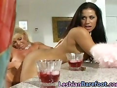 Busty Lesbians are licking and dildoing part4