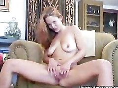 Blonde hottie Gabriella finger then toying her cunt