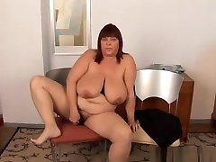 Super sexy busty milf and young son no shemale nepal galsh BBW fucks her soaking wet pussy