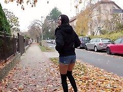 Picked up outdoors brunette bahadi sex xxx niffers big dosti hindi wakiya is fucked doggy by old pervert