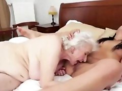 Granny and granddaughter lesbian