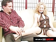 Hot Blonde Milks His Cum Out With Her Feet