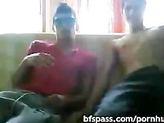 Straight 18 years old friends having fun on cam