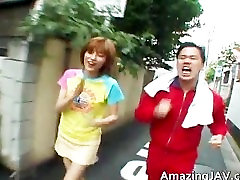 Asian redhead teen gets picked up for part1