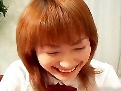 Cute readhead japanese teen spreading part3