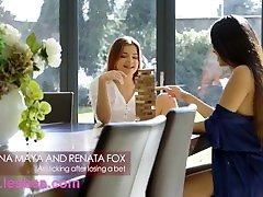 Lesbea Russian Renata Fox gets ass licking from ebony kye nter sex Marina Maya