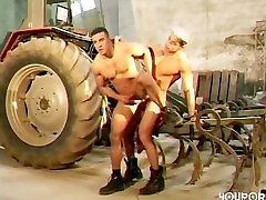construcction Hunks Digging each other