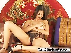 Big pervert 1 asian stunner dildoing hairy part3