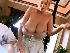 My mom wake me up every morning with her hugs boobs